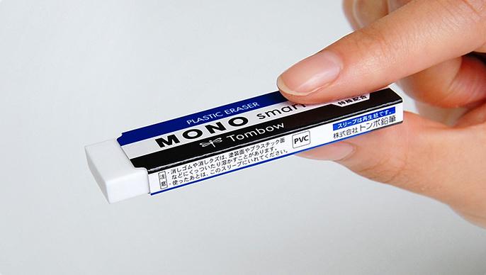 Tombow Mono Smart - экстра-тонкий 5,5 мм ластик для стирания небольших фрагментов.Идеально подходит для точного стирания отдельных строк, букв или цифр.