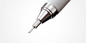 固定ガイドパイプのペン先